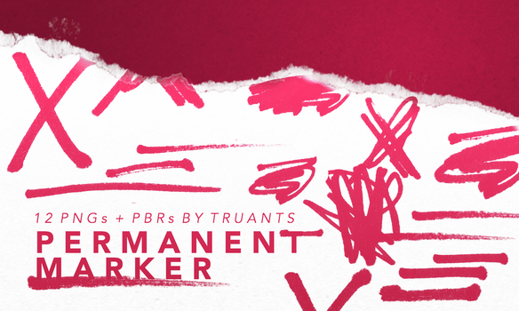 permanent marker : png pack + pixlr brushes by truants