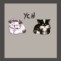 [OPEN]YCH Chibi Cat (Unlimited Slots) by Crywolf130