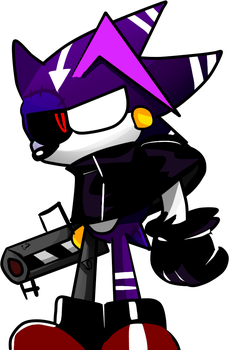 Random Metal Sonic fused with DarkSpine OC by Mobian-Shadowtails