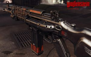 Assault Rifle 1960 rear view by panick