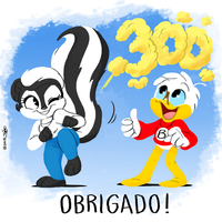 300 Subscribers by joaoppereiraus
