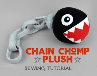 Sewing Tutorial - Super Mario Chain Chomp Plush by SewDesuNe