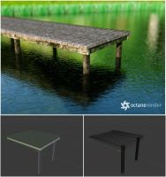 Simple Pier (Free 3D Model  blend + obj) by pnn32