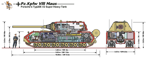 Maus Measurements and Cutaway by tacrn1
