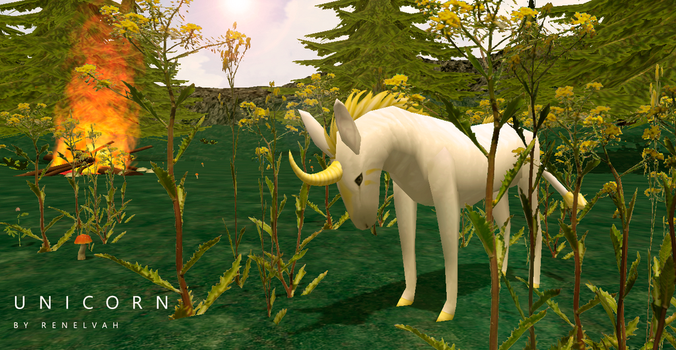 [Retexture + remodel] Unicorn by Renelvah