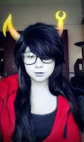 Vriska cosplay I guess?? by PandaleonSaa