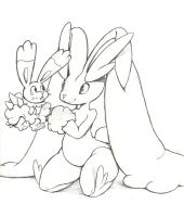 Bunnelby and Lopunny