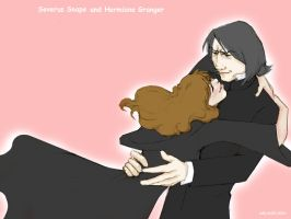 Severus and Hermione Wallpaper by usagistu