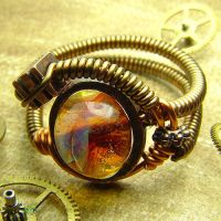 Steampunk Borosilicate Ring by CatherinetteRings