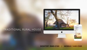 Traditional Rural House Wallpaper by dandragos
