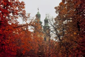 Autumnal abbey by Wanderlouve