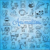 Pack de brushes de Animalitos by LauraClover