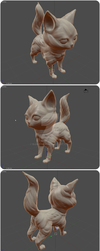 SculptingPractice - Second Cat Attempt More Views by BunnyVoid