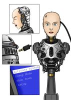 Female Robocop: Alexandra Murphy 03 by ThisOtherWriter