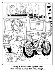 Bike Coloring Book Page 5 by Barkon68