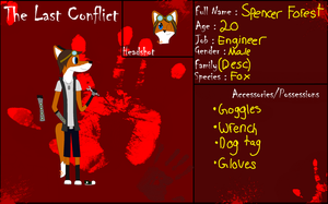 The Last Conflict Application- Spencer Forest by 24Wolfy42