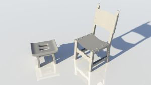 Medieval chairs by wind-hime-kaze