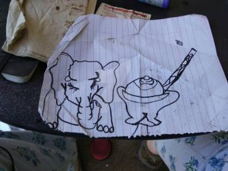 Howard electric ice cream cake with elephant by Kristal5544C