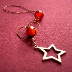 Red Ornament with Star by SneddoniaDesigns