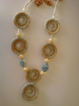 Circle Simple Crochet Necklace by lisa-adrina