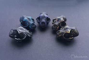 Ornate cat skulls by metazoe
