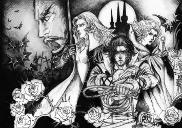 Castlevania 3: Curse's Dracula by Mad-Hatter----X