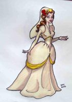 Belle's wedding gown by happyeverafter