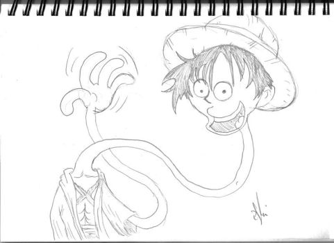 Pencil Luffy by Atomicvege