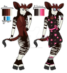 Okapi Anthro Girl .::CLOOOOOSED::. by MonsterMeds