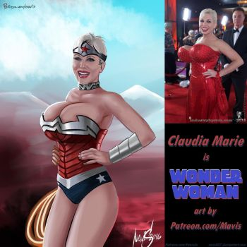 Claudia Marie Is Wonder Woman by Mavruda by zenx007