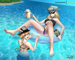 Summer Bismarck and Pudding by jay156
