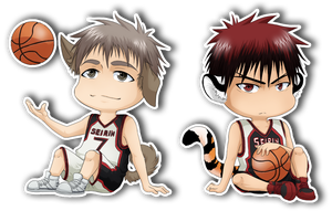 Chibi Teppei and Kagami by Abby-desu