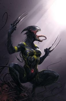 She symbiote pt1 by VENOMIZED-1