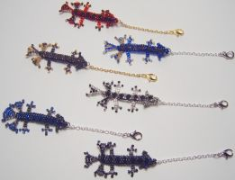Crisis Core Baby Dragon Charms by wickedorin