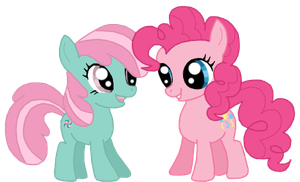 Filly Pinkie and Minty by TeaganLouise