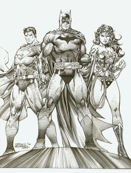 Jim Lee and myself DC Icons by Blasterkid