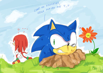 come on Knuckles... by missyuna