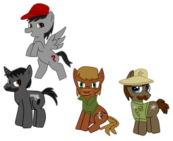 The Walking Dead Ponies by TheStalkerific