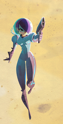 Another Space Girl WIP by Gilmec