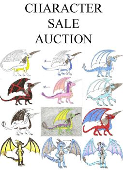 CHARACTER SALE AUCTION by DragonofDarkness1992