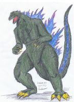 Godzila V3 by hewhowalksdeath