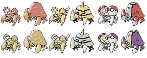 Paras Parasect Breeds GSC Sprites by Axel-Comics