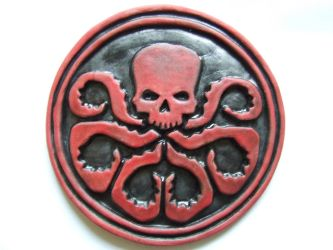Agents of Shield Hydra logo, geeky sci-fi Gift by FireVerseCeramics