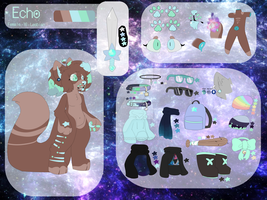 Echo | Fursona ref 2017(OUTDADTED) by VirtualHugg