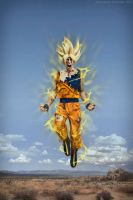 Goku Cosplay .:Fly Hight:. by Alexcloudsquall