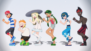 MMD Pokemon Sun and Moon - Alola Gang by MMDSatoshi
