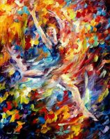 Burning Flight by Leonid Afremov by Leonidafremov
