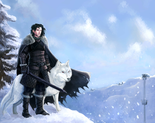Jon Snow by Dreambeing
