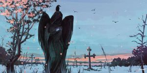 Grave Angel by Aenami