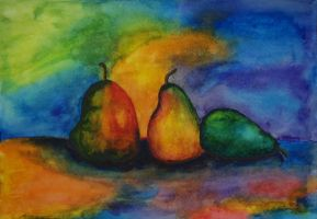 pears by MarjoryBurnt
